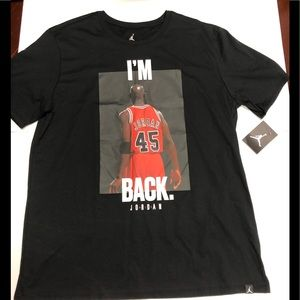Jordan Retro 10 I'm Back black T-Shirt XLarge